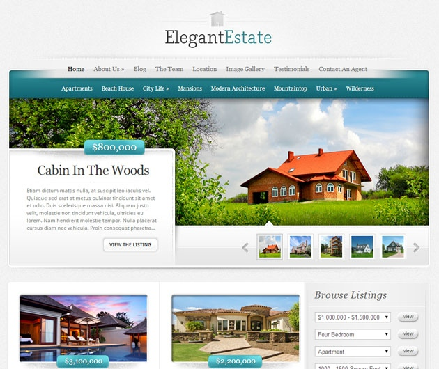 elegantestate  vente wordpress