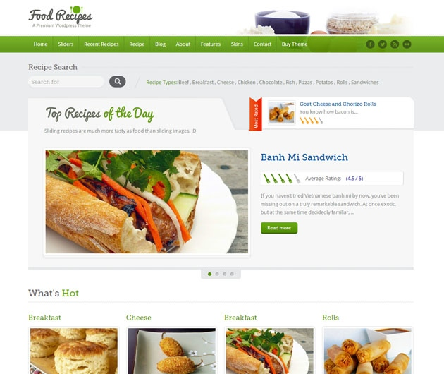 food recipes   blog cuisine wordpress