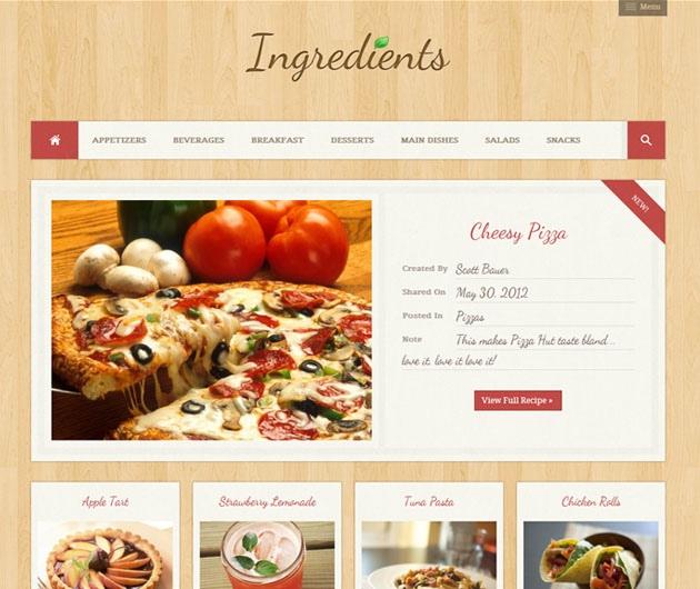 ingredients   recettes de cuisine