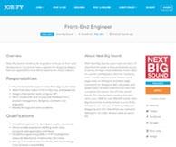 Jobify Thème petites annonces emploi