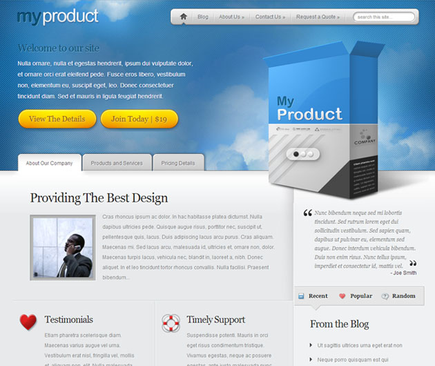 myproduct  service wordpress