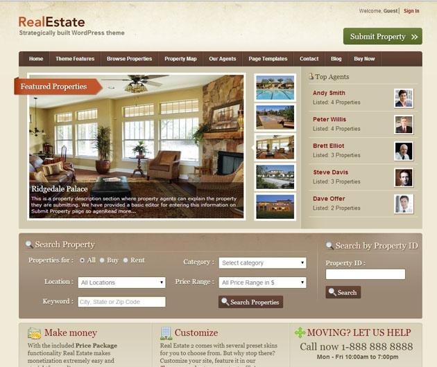 Real Estate 2 Templatic