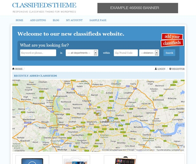 Responsive-classifieds-theme