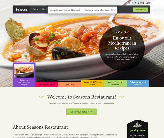 Seasons thème restaurant