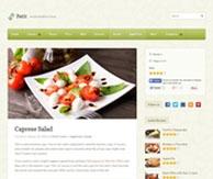 Thème recettes de cuisine Blog