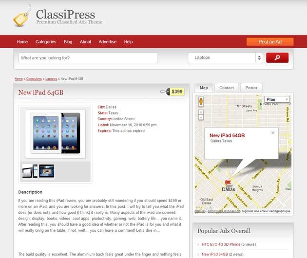 classipress-annonce