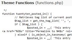 fichier functions Wordpress