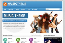 Music Community Theme