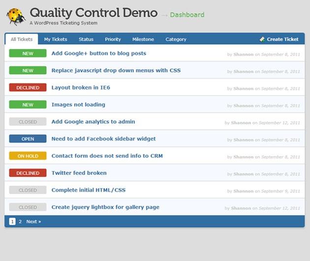 Quality Control thème
