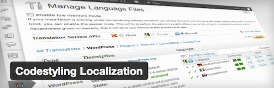 plugin traduction thème codestyling localization